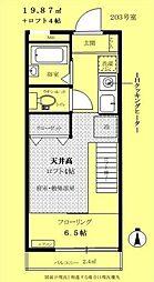 東京都杉並区浜田山4丁目の賃貸アパートの間取り