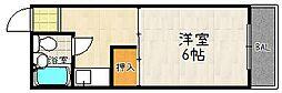 セジュール花山[206号室]の間取り