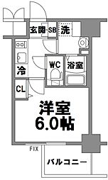 エスリード新大阪グランファースト[607号室]の間取り