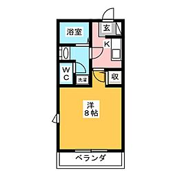 コーストヴィレッジI[2階]の間取り