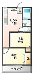第2セイワコート[4階]の間取り