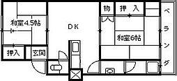 マンション西宮[105号室]の間取り