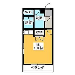 コーポ平野[3階]の間取り