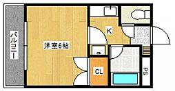 RA津福[3階]の間取り