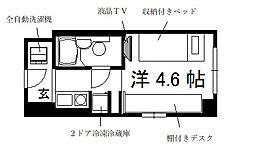 コスモリード京都今出川[5階]の間取り