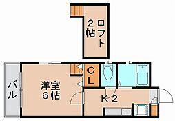 アルフォンス筥松[2階]の間取り