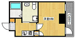 阪急神戸本線 王子公園駅 徒歩4分の賃貸マンション 8階1Kの間取り