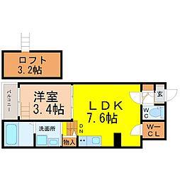 中区新栄三丁目デザイナーズ[2階]の間取り
