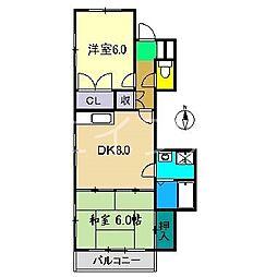 ベイハウス[3階]の間取り