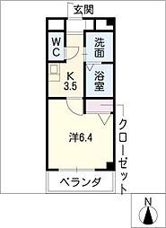 カーサ11[1階]の間取り
