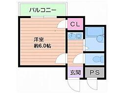 大阪府大阪市浪速区芦原2丁目の賃貸マンションの間取り