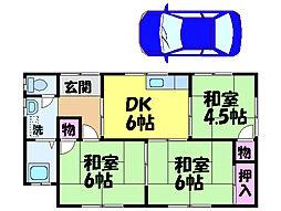 [一戸建] 愛媛県松山市北久米町 の賃貸【愛媛県 / 松山市】の間取り