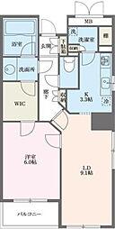 東京都港区港南2丁目の賃貸マンションの間取り