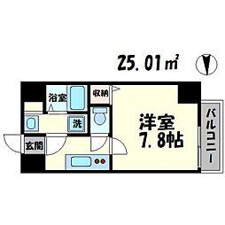 TOYOTOMI STAY PREMIUM 梅田III 3階1Kの間取り
