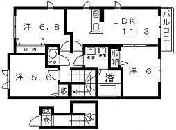 シャーメゾン桜ヶ丘[202号室号室]の間取り