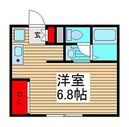 埼玉県さいたま市南区鹿手袋5丁目の賃貸アパートの間取り