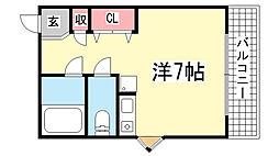 ヒラボウマンション国香通[3階]の間取り