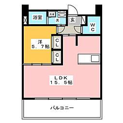 グラン・アベニュー西大須[13階]の間取り