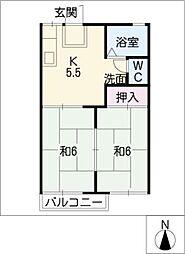 ロイヤル水谷A・B棟[1階]の間取り