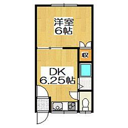 ハイツコスコン[2階]の間取り