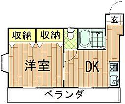 神奈川県川崎市中原区今井西町の賃貸マンションの間取り