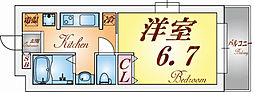 兵庫県神戸市須磨区南町2丁目の賃貸マンションの間取り