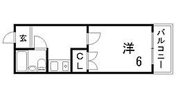 ラ・ムールKOBE[4階]の間取り