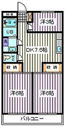 埼玉県さいたま市南区曲本4丁目の賃貸マンションの間取り