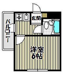 カームコーポ[2階]の間取り