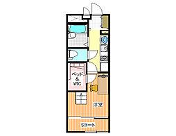 レオパレスエイト[1階]の間取り