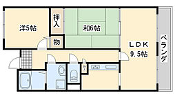 大阪府泉南市中小路2丁目の賃貸マンションの間取り