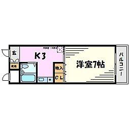 ロイヤルメゾン武庫之荘VII[4階]の間取り