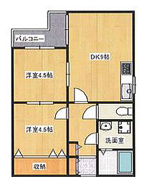 兵庫県神戸市須磨区磯馴町5丁目の賃貸マンションの間取り