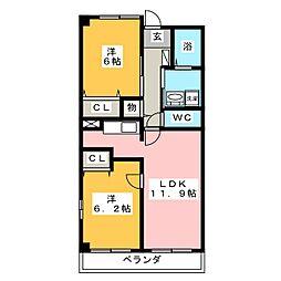 ドゥーメゾンK[4階]の間取り
