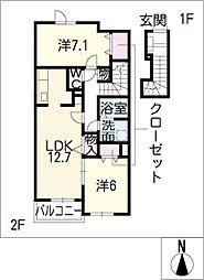 CLEMENT[2階]の間取り