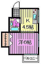 曽山ハイツ[2階]の間取り