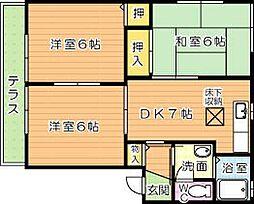ソシア浅川 B棟[1階]の間取り