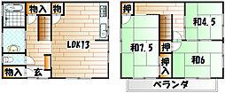 [一戸建] 福岡県北九州市戸畑区新池3丁目 の賃貸【/】の間取り