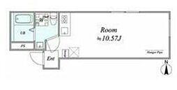 JR中央線 阿佐ヶ谷駅 徒歩9分の賃貸マンション 4階ワンルームの間取り