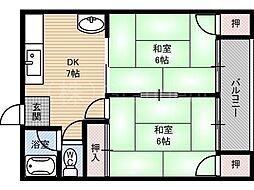 マンションひまわり[2階]の間取り