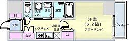 Osaka Metro長堀鶴見緑地線 長堀橋駅 徒歩4分の賃貸マンション 12階1Kの間取り