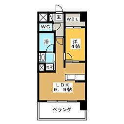 プレミア ステーション 西口[6階]の間取り