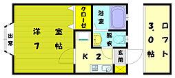 ピサ古賀[2階]の間取り