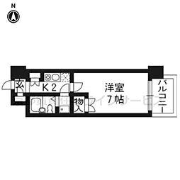 デイスターアベニュー207[2階]の間取り