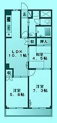プラザ・ディア[3階]の間取り