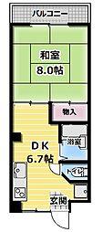 ラ・フォーレ古川橋[302号室]の間取り