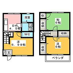 [テラスハウス] 栃木県さくら市氏家 の賃貸【/】の間取り