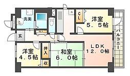エーデルハイム園田[2階]の間取り