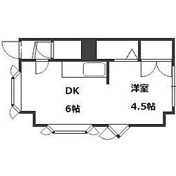 コーポラス8 B棟[4階]の間取り