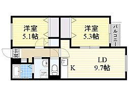 北海道札幌市中央区北6条西25丁目の賃貸マンションの間取り